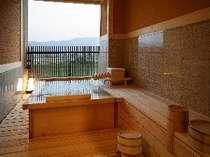 ◆準特室-高千穂-◆客室露天風呂、目の前は筑後川の借景が拡がる。,福岡県,ほどあいの宿 六峰舘