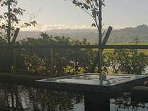 耳納連山と筑後川を見ながらゆっくりとした時の流れをお楽しみいただけます。