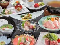 2015年 春会席 華コース 肉料理と魚料理をバランスよく使用した会席