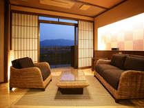 ◆準特室-古処-◆和室10畳とアジアンソファ(リビング)6畳