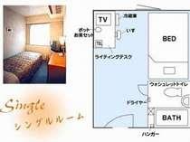 シングルルーム,兵庫県,姫路グリーンホテル立町