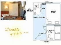 ダブルルーム,兵庫県,姫路グリーンホテル立町