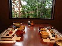 朝食(新鮮な地元野菜を主にヘルシーな料理です)