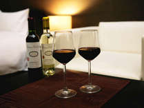お部屋でくつろぎながら山梨県産ワインをお楽しみください☆