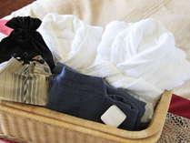 【アメニティ】バスタブ付のお部屋にはバスローブも完備。