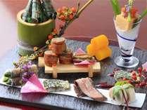 和と洋の味が愉しめる鮮やか前菜 ※イメージ