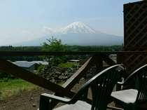 テラスからの富士山