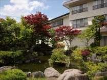 ※正面玄関横の日本庭園
