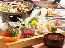 海鮮刺身盛り&八戸郷土料理いかのぽんぽん焼きプラン