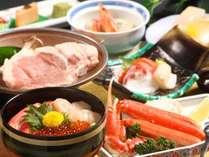 ※「ガーリックポーク&海鮮三種丼」の献立一例