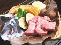 【お肉増量/1泊2食】 人気の飛騨牛が1.5倍!囲炉裏で炙って大満足♪3つの貸切露天もちろん無料!