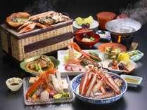 【旬魚・食通プラン】富山の贅沢!蟹フルコース会席 焼き蟹、ゆで蟹はもちろん、蟹刺しから蟹しゃぶまで!
