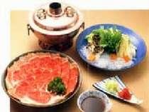 【夕食一例】日替わりで提供の大人気しゃぶしゃぶ♪