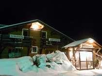 【冬の外観】まだまだ春スキーが楽しめる三月の外観