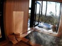 冬の別館、雪見温泉