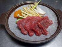 信州牛の陶板焼き肉
