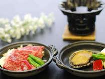 大人限定★お料理チョイス「ミニステーキ」or「ミニ鮑」 グループで同一料理をお選びください♪