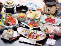 【忘年会・新年会料理イメージ】※チョイス料理は、すき焼きと天ぷらver.