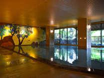 ■男性大浴場■深夜2時まで利用可♪源泉100%温泉で日頃の疲れを癒しましょう