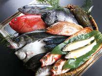 魚貝イメージです。近海の底引き朝獲れの新鮮な魚介類を総料理長自慢の出汁で食す鍋会席プラン!