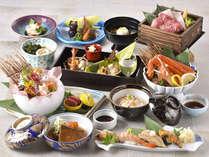 グルメ旅!贅沢【冬の彩り会席 一例】料理長一押しのお料理をおたのしみくださいませ。