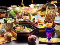 """■玉手箱会席―TAMATEBAKO―■10種類の魚介類をご用意。""""日本海の獲れたて""""を召し上がれ。"""