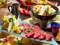 ■雪解け会席―YUKIDOKE―■見た目も美しい綺麗な赤身和牛。柔らかさも旨味も総料理長お墨付き