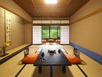 ■和室10畳■客室に入るとふんわりと井草の香りがお客様を包み込みます。