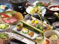 奥飛騨の旬の食材をふんだんに使った、美食のフルコースをお召し上がりください