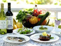 *ハーヴェストディナー(一例) 地元「八ヶ岳」の旬の食材を90%使用!