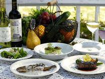 *旬の食材でもてなす、ハーヴェストディナー(一例) 季節におうじて食材が変わります。