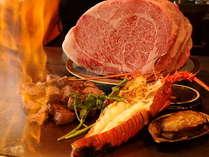 A5ランク最高級松阪牛と新鮮魚介類