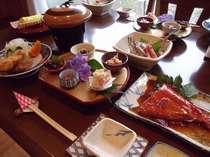 金目鯛ずくしのお料理の数々