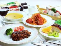 ★夕食一例★伊勢海老や牛ヒレ肉等をご用意して皆さまをお待ちしております。