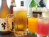 ビール・焼酎・ウイスキー・サワー・ワイン・日本酒・ソフトドリンク等飲み放題料金も設定有♪