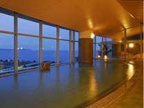 タワー館5階大浴場「海望の湯」夕景!