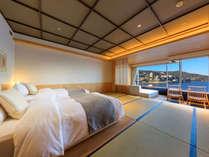 エクセレンシィルーム一例。高層階より素晴らしい眺望をお楽しみ頂けます。
