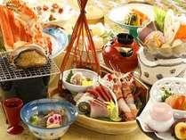 【夕食】「さざ波膳」活アワビの踊り焼と手長エビを盛込みグレードアップしたお造り盛り,静岡県,牧水荘 土肥館