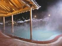 冬の露天風呂(単純硫黄泉)