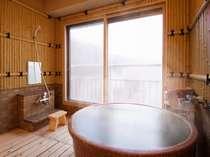 <展望風呂付和洋室一例>あなただけの温泉がお部屋の中にあります。