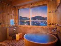 <展望風呂付和洋室一例>誰に気遣うことのないプライベートな温泉浴。