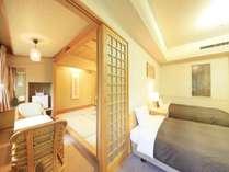 <コネクティングルーム>和室と洋室間が壁で仕切られております。