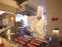 <グリーンテラス>お肉もその場で焼き温かくご提供