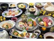 当館スタンダードな会席【潮風】健さん和牛や地魚5種盛など地産の食材を♪