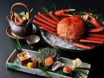 【秋の特別会席】秋に漁が解禁になる紅ずわい蟹の特別会席。濃厚な甘味をたっぷり味わえる旬の一品です