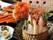 【冬の特選蟹会席】蒸して、焼いて、揚げて、もちろん刺身でも蟹をご堪能いただけます