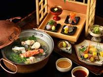 【基本会席】夕食は和と洋を絶妙に取り合わせた創作和会席