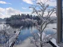 お部屋からの冬景色
