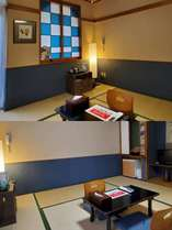 8畳間の和室:窓辺からは新緑や、紅葉を望めるお部屋。こじんまりとしてますが人気のお部屋です。