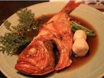 味付けが大好評の地金目鯛の煮付け